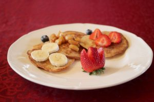 Delicious Fruit Topped Pancakes - St. Mary's B & B
