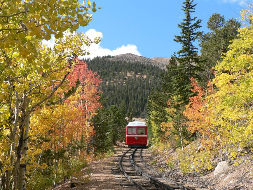 See the fall colors by train