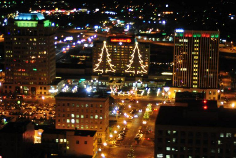 Colorado Vertical Holiday Lights Helicopter Rides