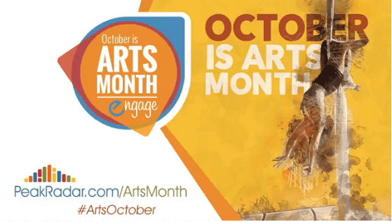 October is Arts Month Celebrate by trying something new