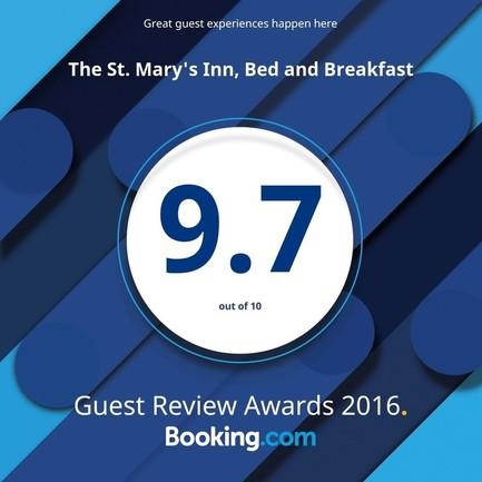 The St. Mary's Inn Awarded Booking.com's Guest Review Award