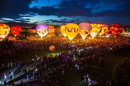 Labor Day Balloon Glow in Colorado Springs