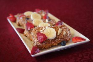 St. Mary's inn Bed and Breakfast - French Toast and Fruit